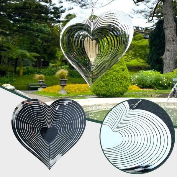 Beating Heart Wind Spinner Wind Catcher Home Garden Decor