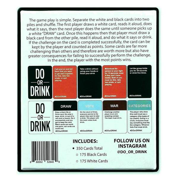 GÖR ELLER DRICKA - Drickkort Roligt och smutsigt brädspel