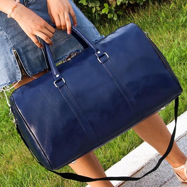 Dam Mode Temperament Protable Vintage Excursion Handväska Blue