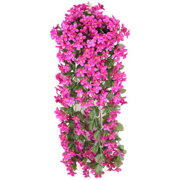 Konstgjorda Falska Violetta Blommor Hängande Ivy Plants Decor Purple - Red 1 PC