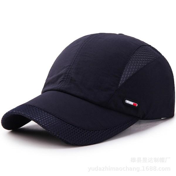 Män Kvinnor Baseball Vandring Cap Snapback Mesh Hat Sport Dark Cyan
