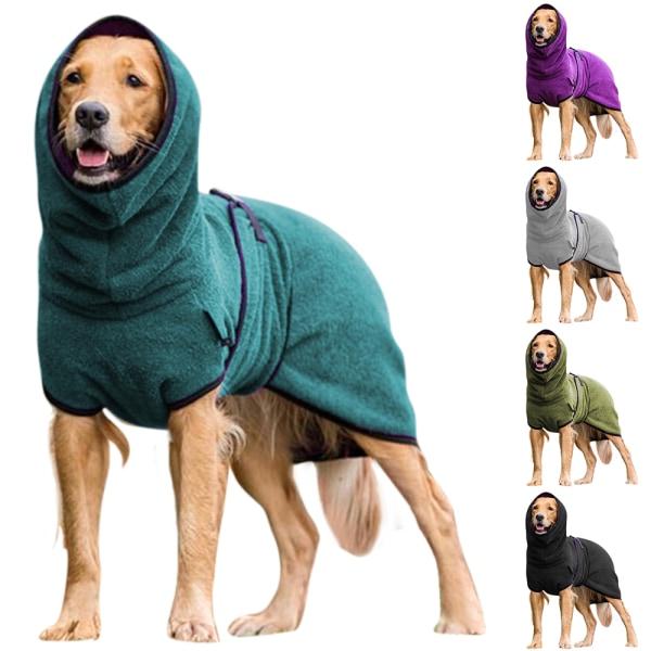 Baotou hund varma kläder vinter valp katt och hund skjorta Gray 2XL