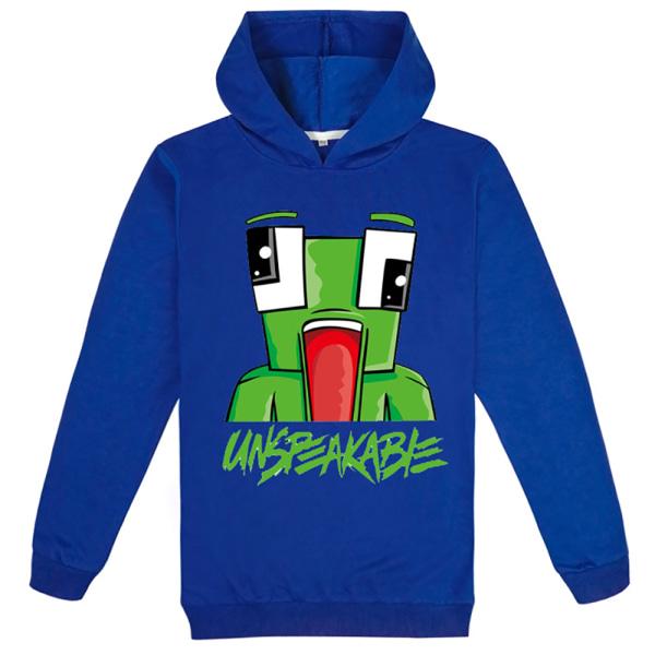 UNSPEAKABLE Youth Unisex Hoodie för barn Tröjor Cartoon Cute Deep blue 130cm