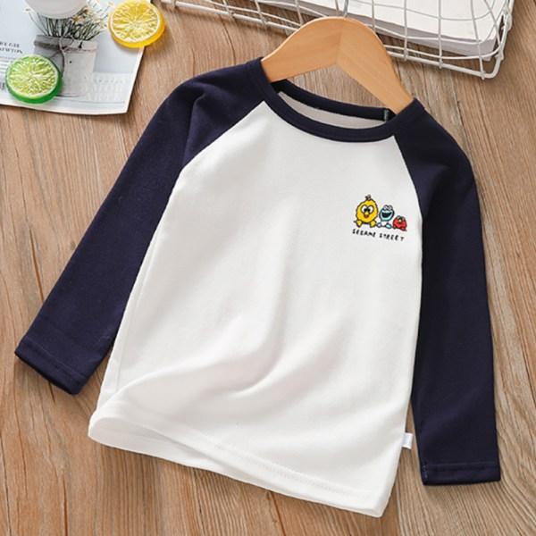 Pojkar Flickor Cartoon Print Hoodie Långärmad tröja med färgblock