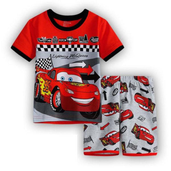 Pojkar Flickor Lightning McQueen Pyjamaskläder Nattkläder 110