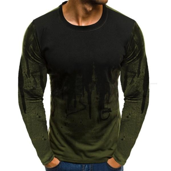 Herr Hoodie Hooded Sweatshirt Toppar Långärmad tröja Grön M