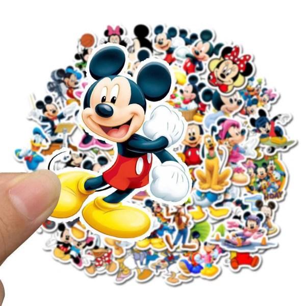 50: a Cartton Minne Mickey Klistermärken DIY-leksaker för barn 50pcs