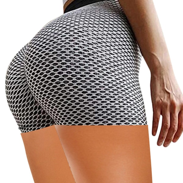 Kvinnors sportkondition Hot Pants Running Shorts Activewear Grey XL