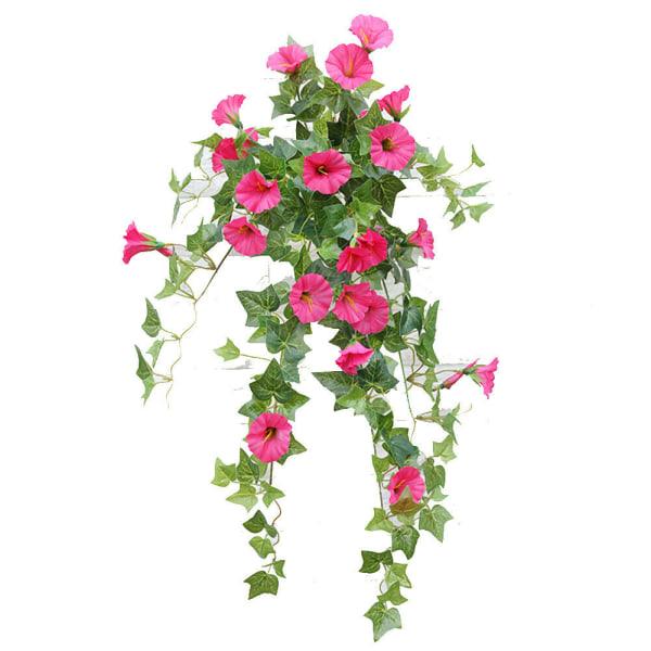 Hängande växter korg konstgjord falsk silke härlighet heminredning Rose Red 1 PC