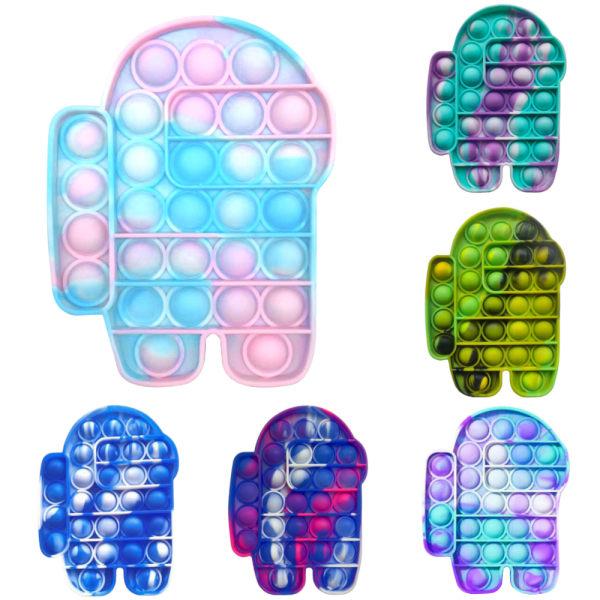 Pop It Among Us Bubble Stressboll Fidget Kids Decompression Toy #1