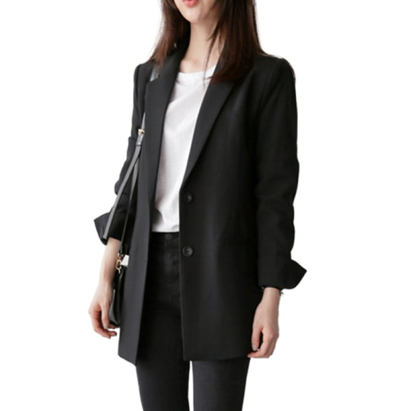 Kvinnor Slim Blazer Suit Work Jacket Coat Cardigan Ytterkläder S