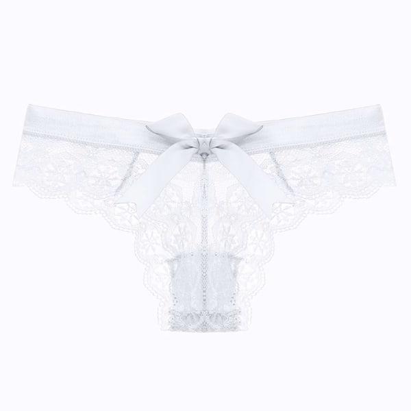Kvinnors Sexiga G-string Blommiga Trosor Underkläder Underbyxor Pink L