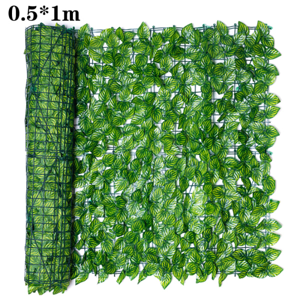 Trädgårdsskärm Trellis Expanding Fence Artificial Leaves Decor 1m