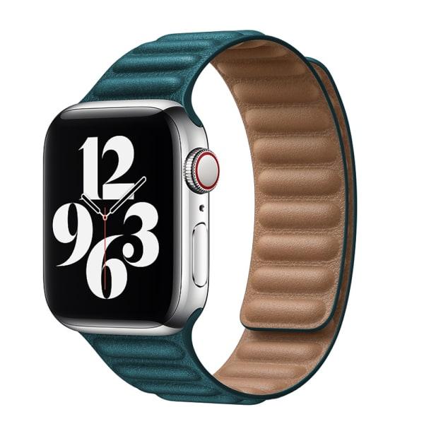 För Apple Watch-bandrem Lädermagnetiskt bytband