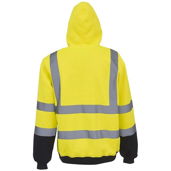Hej Vis Säkerhetsväst Reflekterande huvtröjor med hög synlighet # 1 Yellow 2XL