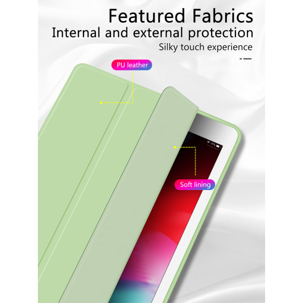 Fällbara fodral Skyddsfodral Dammsäkra omslag till iPad Air NYHET Grey Purple iPad 8th 2020 10.2