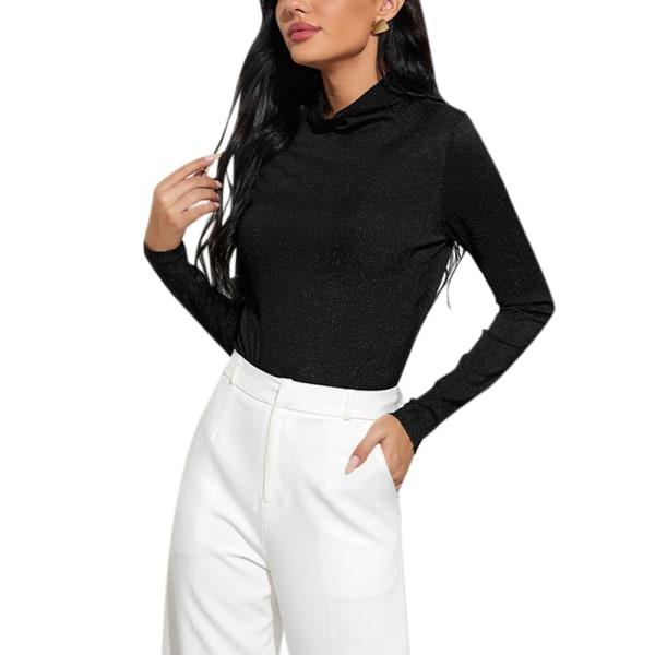 Långärmad långärmad bodysuit-damtröja för damer