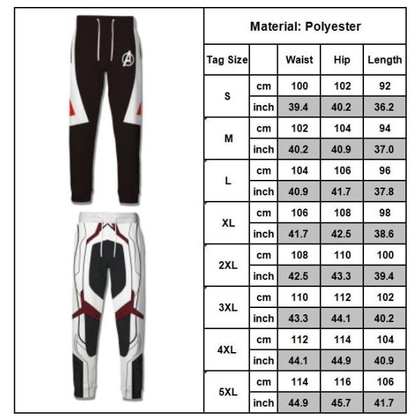 Män Anime Cosplay Avengers 4 Suit Pants Tie Loose Byxor Type B XL