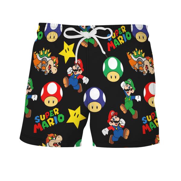 Herr simningstavla Surfshorts badkläder Beach sommarbyxor Mario 2XL