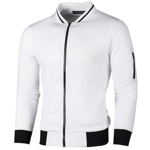 Herr höstjacka med dragkedja, cardigan, jackor, topp White 2XL