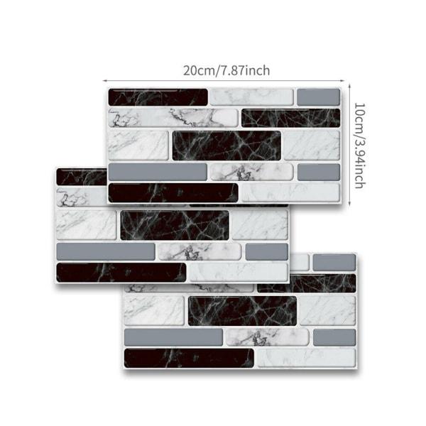 54: e 3D självhäftande mosaik kakel klistermärke väggdekaler 54 pcs
