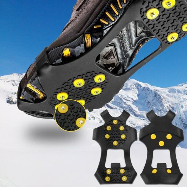 Utomhusvandring Snow Anti Slip Ice Grippers för Boots Skor M