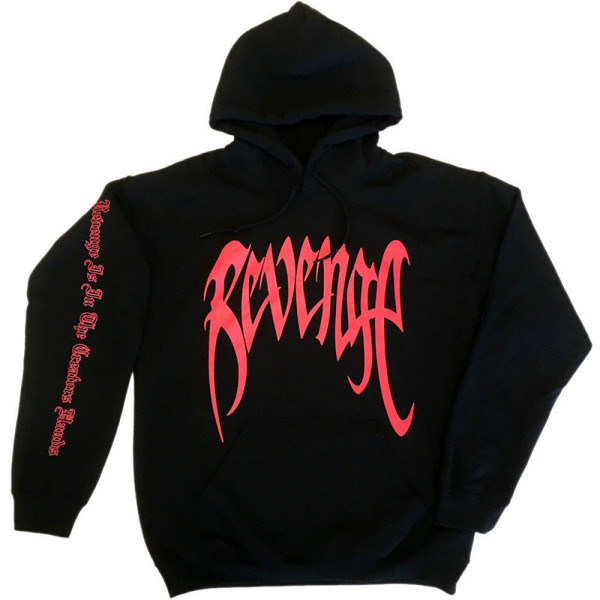 Unisex män dam basic hip-hop hoodie tröjor tröja Black XL