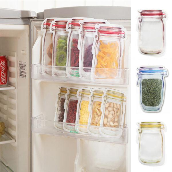Transparent flaskförvaring Färska återanvändbara påsar 20 ST L