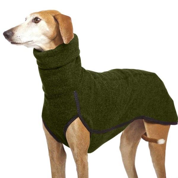 Vinterkläder Hund Pet Greyhound Whippet Lurcher Jumper Green 3XL