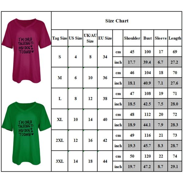 Kvinnors bokstäver V-ringad t-shirt Sommar Casual Blusar