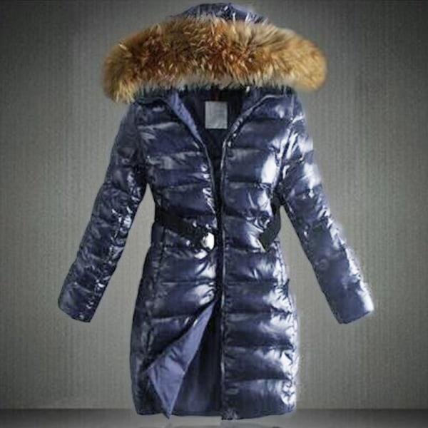 Kvinnor pufferjacka långärmad vinter varm blue L