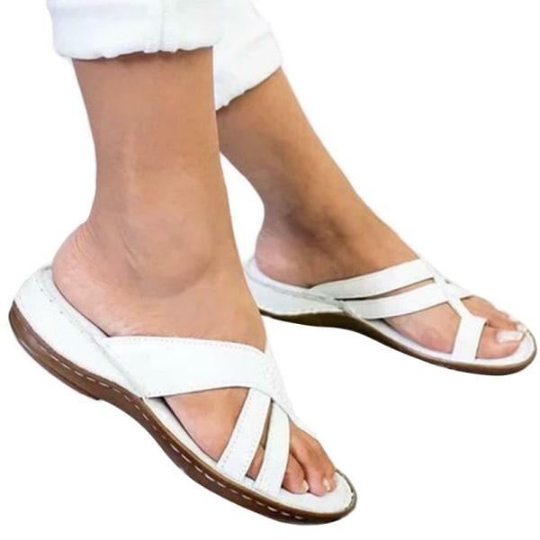 Dam Sandaler Tofflor med rund tå Brown 42