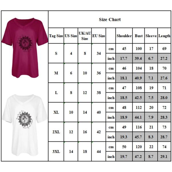 Kvinnor V-ringad kortärmad T-shirt Fritidsblus