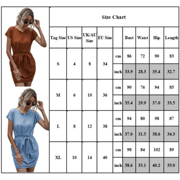 Kvinnors V-ringning Kortärmad snörning i miniklänning Slim Party Office Black L
