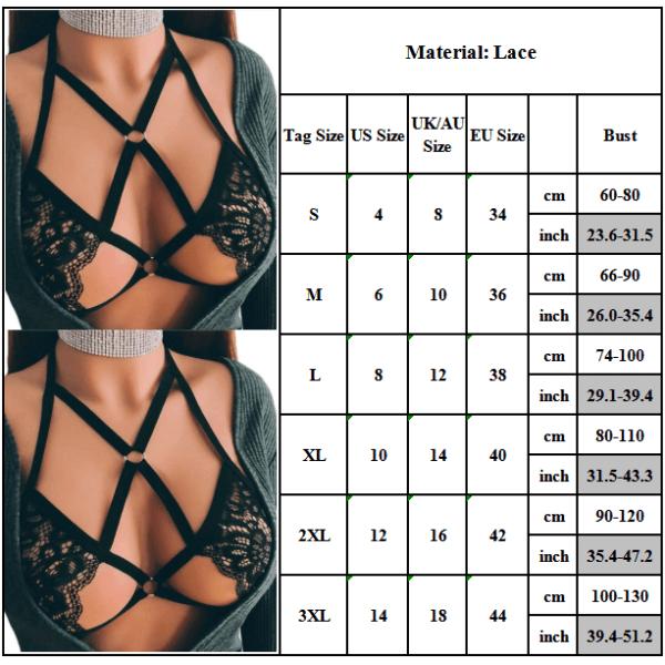 Dam Babydoll Sexig Bandage Cage Strappy Underwear Bh XL