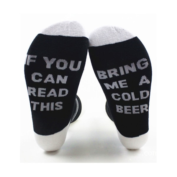 Strumpor If You Can Read This Bring Me A Cold Beer (onesize) sva