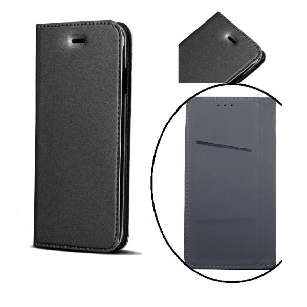 Huawei P10 Lite - Smart Premium Plånboksfodral- Svart Svart