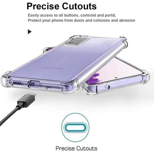 Samsung Galaxy S21 Plus 5G - Bumper Extra Stöttåligt Slim Skal Transparent
