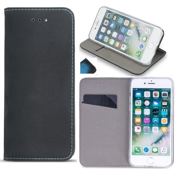 Huawei P10 Lite - SmartTermo Plånboksfodral - Svart/Blue Black