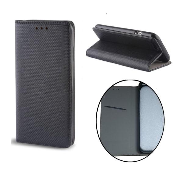 Huawei P10 Plus - Smart Magnet Fodral, Flip Case Mobilplånbok Svart