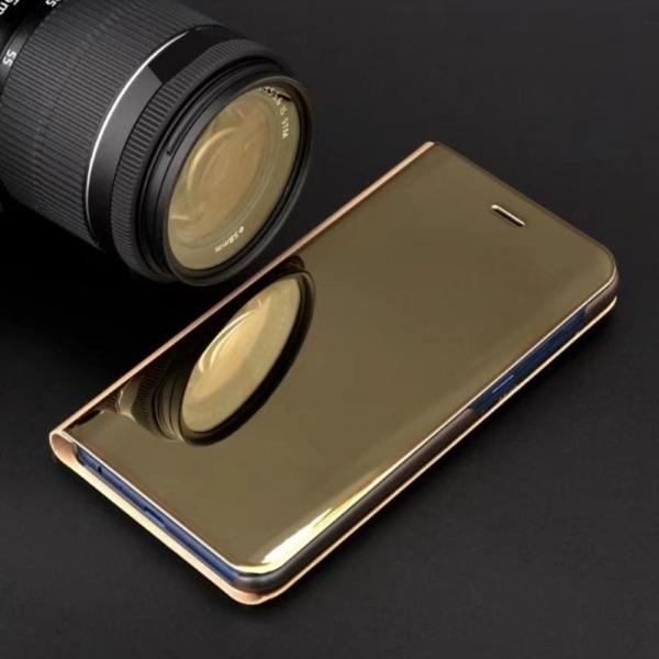 Huawei P30 Lite - Smart Clear View Fodral - Guld Guld