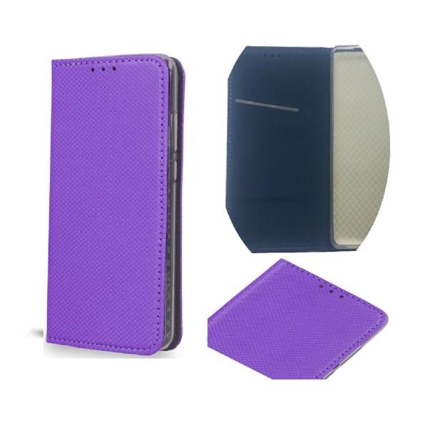 Samsung A6 (2018) - Smart Magnet Fodral Mobilplånbok - Lila Lila