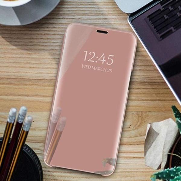 Xiaomi Redmi 8A -  Smart Clear View Fodral - Silver Rosa
