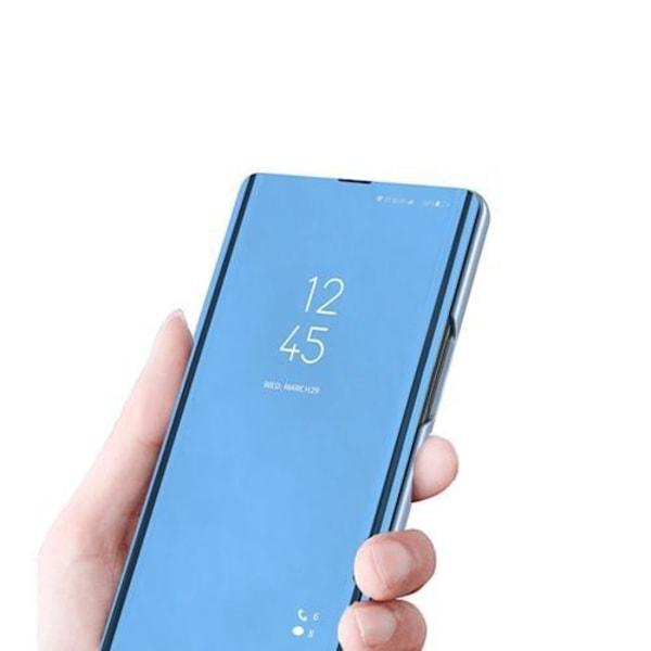 Xiaomi Redmi 9A - Smart Clear View Fodral - Blå Blå