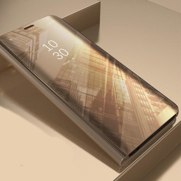 Xiaomi Redmi 9C - Smart Clear View Fodral - Guld Guld