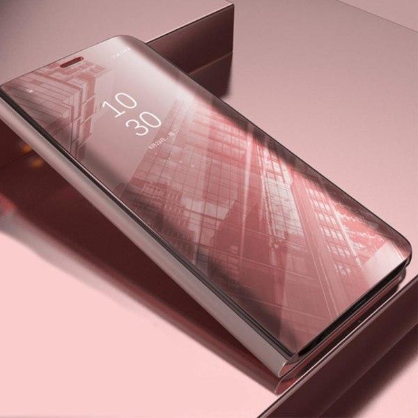 Xiaomi Redmi 9C - Smart Clear View Fodral - Rosa Rosa