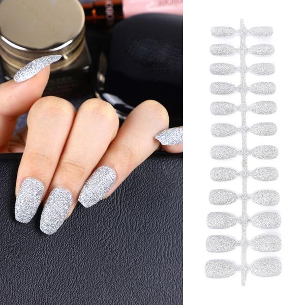24st / påse Glitter kista falska naglar bärbara 12 12