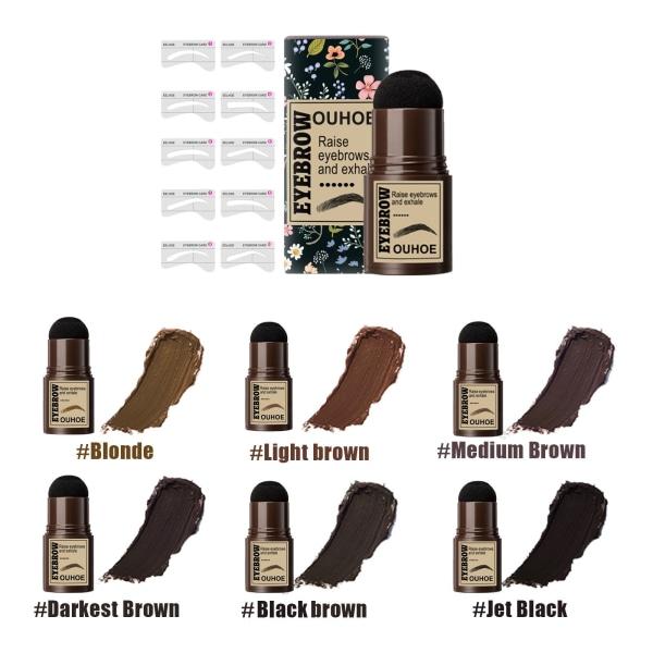 Brow Stamp Shaping Kit One Step MEDIUM BROWN