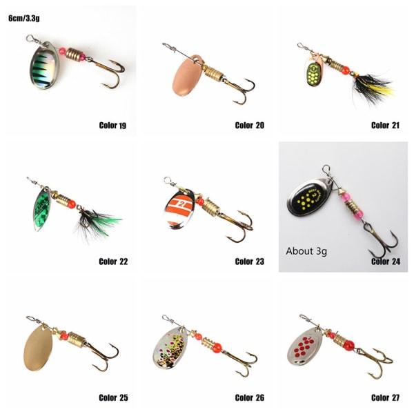 1PC Fiske Lure Sked Spinner Crank Bait FÄRG 15