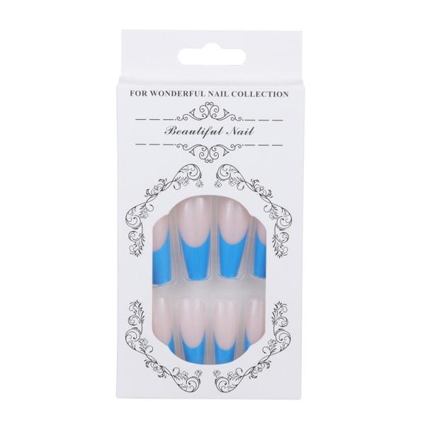 24 st / set falska naglar kista falska naglar ballerina naglar 8